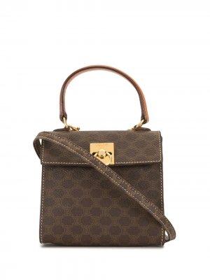 Мини-сумка pre-owned с узором Macadam Céline. Цвет: коричневый
