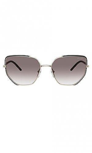 Солнцезащитные очки catwalk project evolution Prada. Цвет: черный