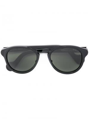 Солнцезащитные очки с ооправой авиатор Moncler. Цвет: черный