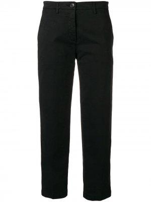 Габардиновые брюки-чинос Department 5. Цвет: черный