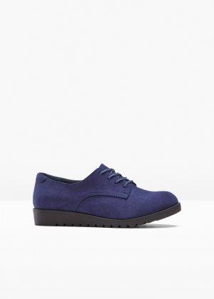 Ботинки на шнуровке bonprix. Цвет: синий