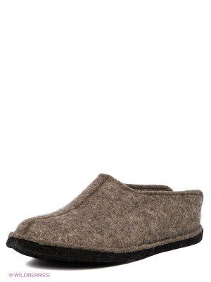 Тапочки Haflinger. Цвет: серо-коричневый