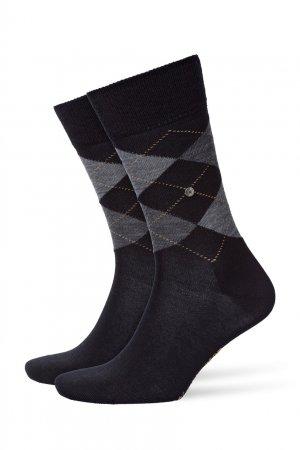 Коричневые носки Edinburgh из шерсти Burlington. Цвет: черный
