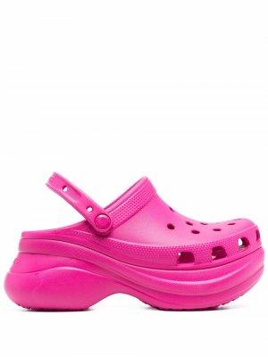 Мюли на платформе Crocs. Цвет: розовый