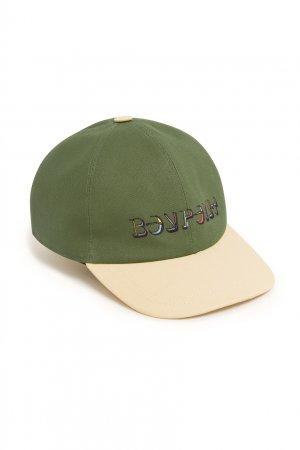 Зеленая кепка с логотипом Bonpoint. Цвет: multicolor