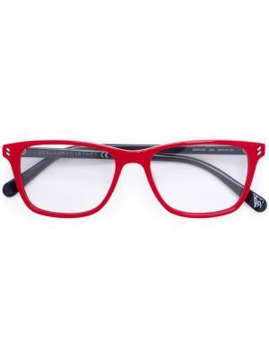 Солнцезащитные очки Stella McCartney Kids. Цвет: красный