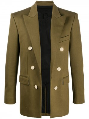 Пиджак из джерси Balmain. Цвет: зеленый