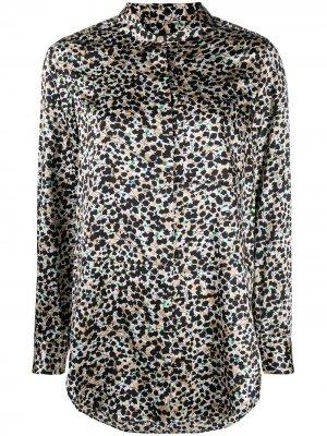 Рубашка с цветочным принтом Steffen Schraut. Цвет: черный