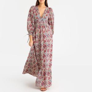 Платье длинное BETSIE LONGDRESS ANTIK BATIK. Цвет: наб. рисунок красный