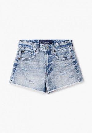 Шорты джинсовые Gap. Цвет: голубой