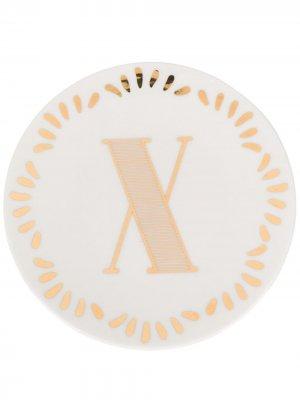 Маленькая тарелка с принтом Bitossi Home. Цвет: белый