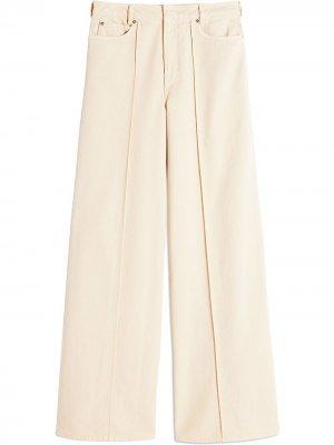 Широкие джинсы с завышенной талией Victoria Beckham. Цвет: нейтральные цвета