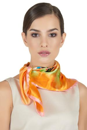 Платок шейный Giglio. Цвет: оранжевый