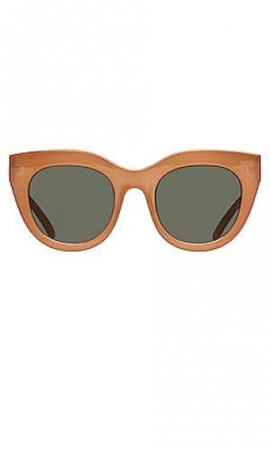 Солнцезащитные очки air heart Le Specs. Цвет: цвет загара
