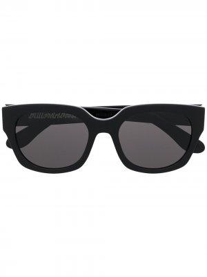 Солнцезащитные очки в квадратной оправе Billionaire Boys Club. Цвет: черный