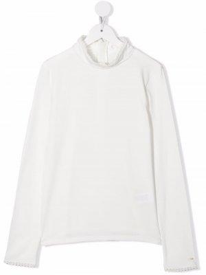 Scallop-edge T-shirt Chloé Kids. Цвет: белый
