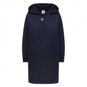 Хлопковое платье Sport Kenzo. Цвет: синий