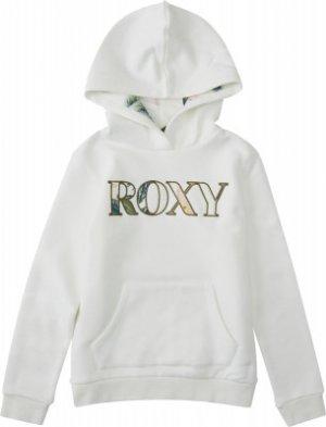 Свитшот для девочек Hope You Know, размер 152 Roxy. Цвет: белый