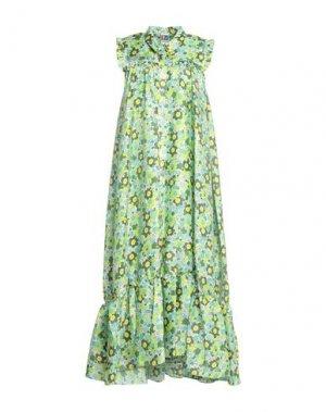Платье длиной 3/4 I'M ISOLA MARRAS. Цвет: светло-зеленый