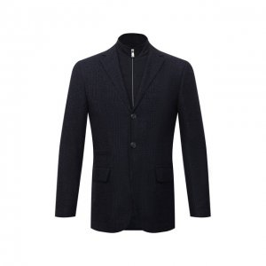 Шерстяной пиджак Corneliani. Цвет: синий