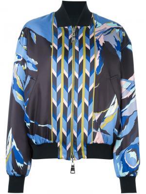 Куртка-бомбер с абстрактным принтом Emilio Pucci. Цвет: многоцветный