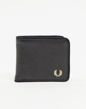 Черный бумажник Fred Perry