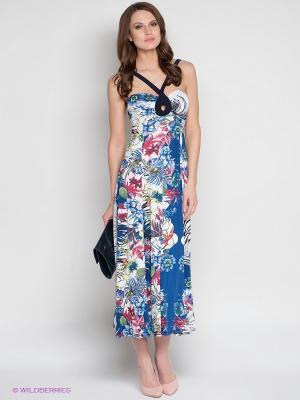 Платье DRS Deerose. Цвет: белый, синий, черный