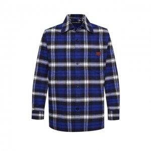 Хлопковая рубашка Acne Studios. Цвет: синий