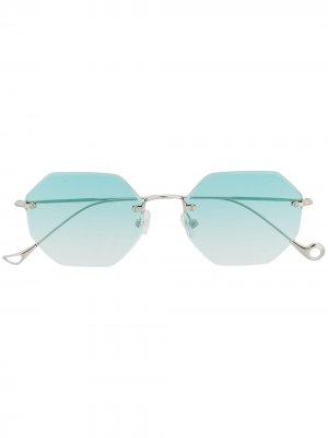 Солнцезащитные очки Oscar Eyepetizer. Цвет: серебристый