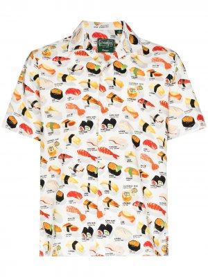 Рубашка Okmase с принтом Gitman Vintage. Цвет: белый
