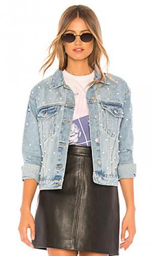 Украшенная джинсовая куртка pearl superdown. Цвет: синий