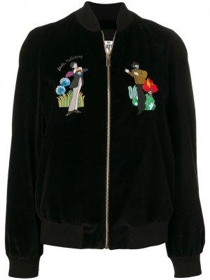 Куртка-бомбер с вышивкой Stella McCartney. Цвет: черный