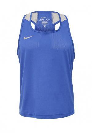 Майка спортивная Nike BOXING TANK. Цвет: синий