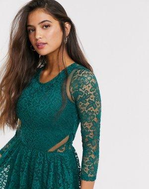 Зеленое кружевное платье -Зеленый Abercrombie & Fitch