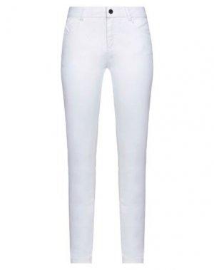 Повседневные брюки FULL CIRCLE. Цвет: белый