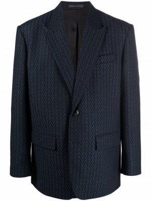Пиджак в тонкую полоску Valentino. Цвет: синий