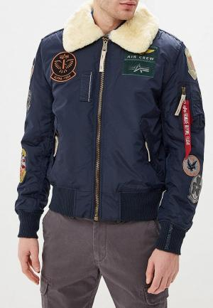 Куртка утепленная Alpha Industries AL507EMCCEJ1. Цвет: синий