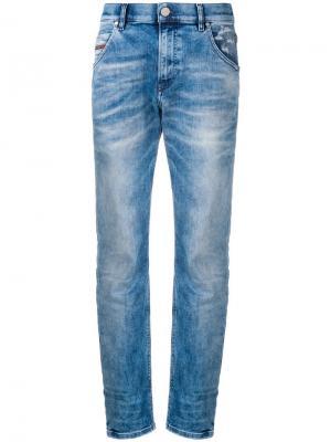 Зауженные брюки с низкой посадкой Diesel. Цвет: синий