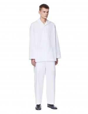 Белая пижама из хлопка Jil Sander