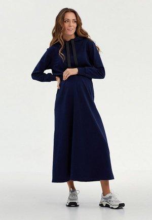 Платье Proud Mom. Цвет: синий
