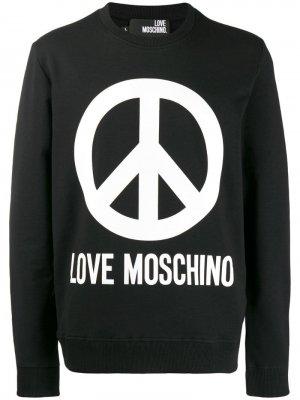 Толстовка с логотипом Love Moschino