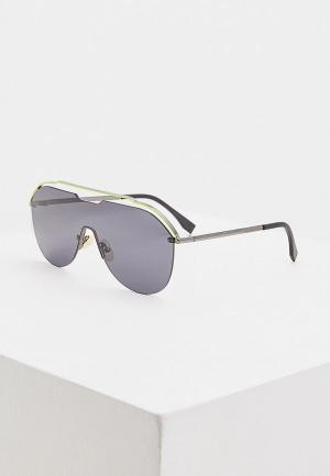 Очки солнцезащитные Fendi FF M0030/S KB7. Цвет: зеленый