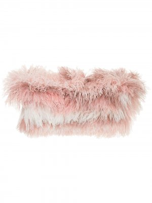 Tonal ostrich feather shrug Isabel Sanchis. Цвет: розовый