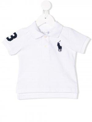 Рубашка-поло с вышитым логотипом Ralph Lauren Kids. Цвет: белый