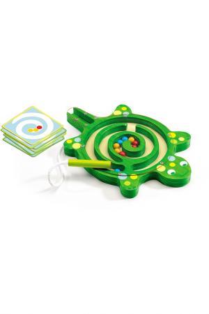 Настольная игра Лабиринт Djeco. Цвет: зеленый, голубой