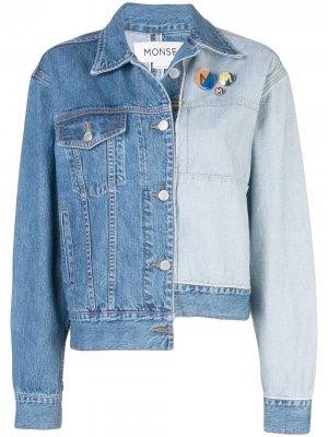 Джинсовая куртка Monse. Цвет: синий