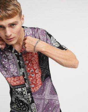 Рубашка с принтом в стиле «бандана» -Многоцветный Criminal Damage