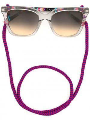 Солнцезащитные очки на шнурке M Missoni. Цвет: серый