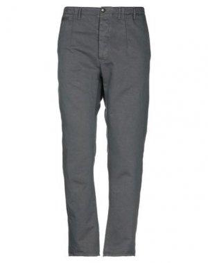 Повседневные брюки BAND OF OUTSIDERS. Цвет: свинцово-серый
