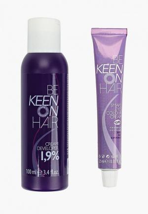 Набор для макияжа бровей Keen Краска и ресниц, Коричневая SMART EYES + Крем-окислитель 1,9%,. Цвет: коричневый